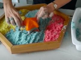 arena comestible para hacer con mis hijos