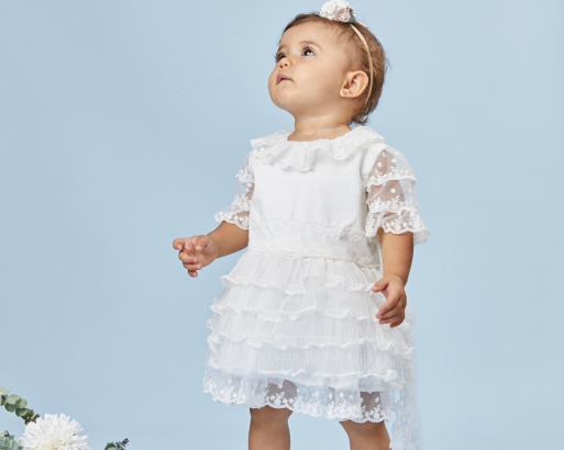 3 outfits bautizo bebe